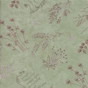 Moda - Prairie Grass - Holly Taylor - 6254 - Scattered Grass on Sage Green - 6751 12 - Cotton Fabric